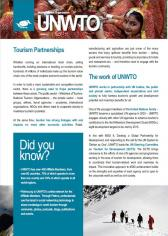 UNWTO Presentation Leaflet - Partnerships