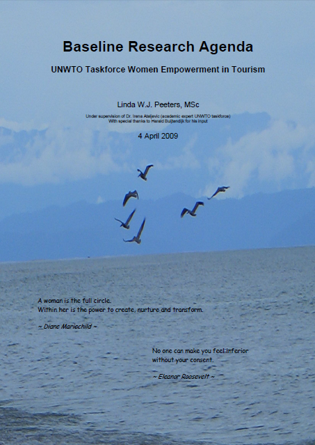 Baseline Research Agenda: UNWTO Task Force for Women in Tourism