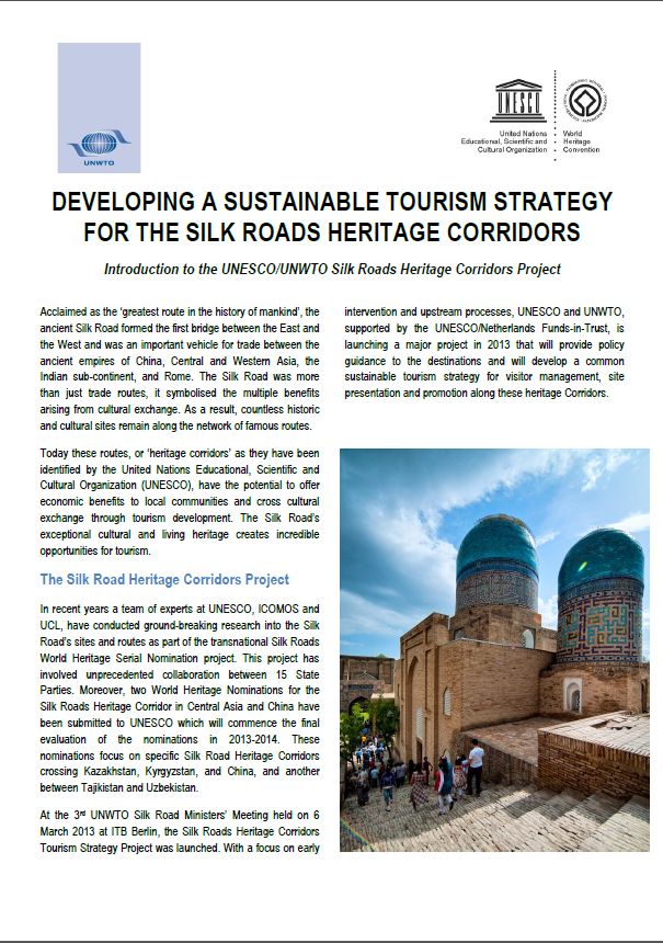 Developing a Sustainable Tourism Strategy for the Silk Roads Heritage Corridors