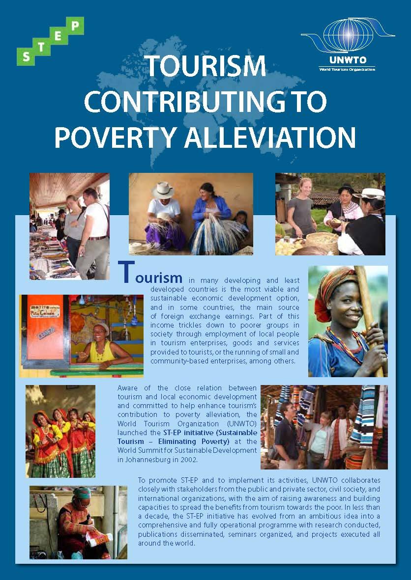 Tourism contributing to poverty alleviation