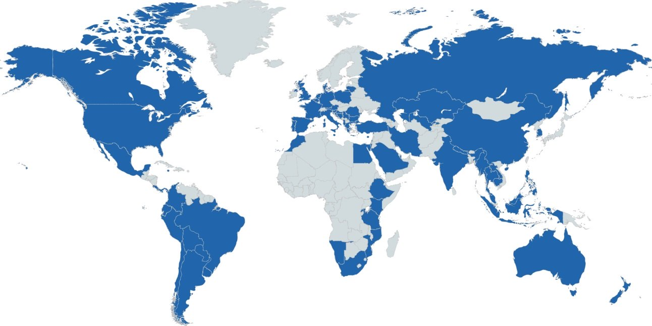 Applications received from more than 70 countries