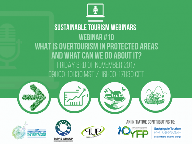 Webinar 10. What is overtourism in protected areas and what can we do about it?, 3 November 2017