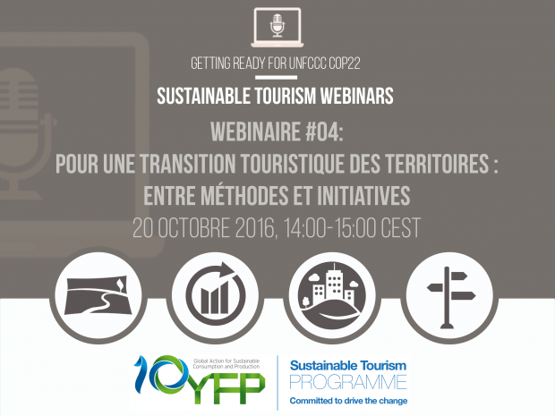 Webinar 4. Tourism transition at destination level: methodologies and innovative projects, 20 October 2016