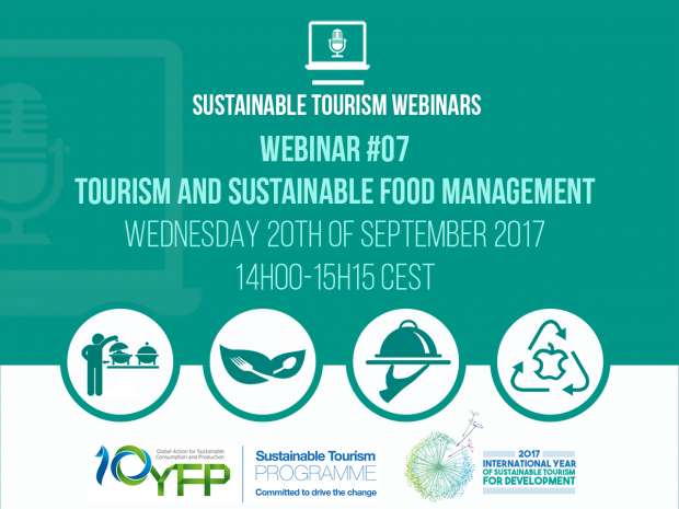 Webinar 7. Tourism and sustainable food management, 20 September 2017
