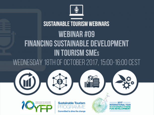 Webinar 9. Financing sustainable development in tourism SMEs, 18 October 2017